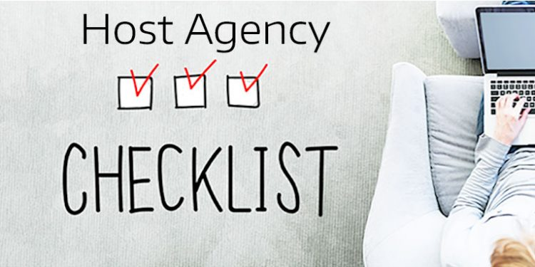 Host Agency Checklist for Travel Agents